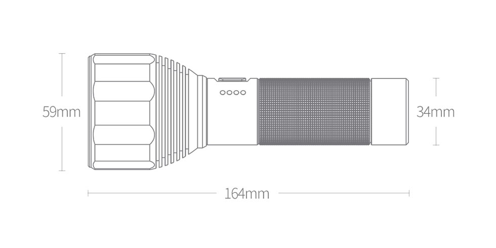Светодиодный фонарик NexTool Nato Outdoor Glare Flashlight (черный)